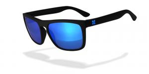 Sungod Sunglasses - Renegades.  Blue lenses and black frames