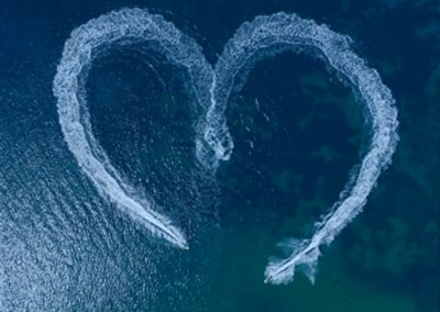 Heart Drawing on Water