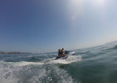 Jet ski together as a couple