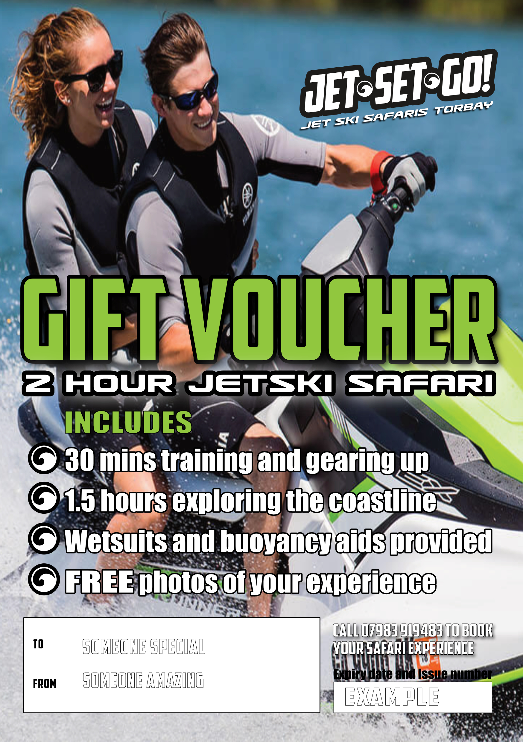 Jet Set Go! Safaris - Example Gift Voucher