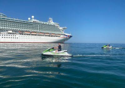 Visiting Cruise Ship